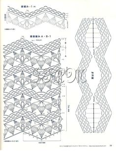 Crochet Ripple, Crochet Diagram, Crochet Chart, Love Crochet, Crochet Lace, Crochet Stitches, Crochet Blocks, Crochet Squares, Crochet Designs
