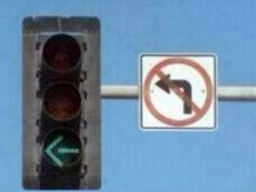 No Left Turn?  For Funny Jokes, please go to:  http://www.its-hilarious.com/ http://itunes.apple.com/us/app/funny-hilarious-jokes/id492166165?ls=1=8