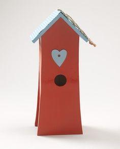bird house with heart