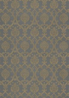 Brenton Damask #fabric in #slate from the Anna French Ballad collection. #Thibaut #AnnaFrench