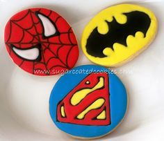 super hero cookies