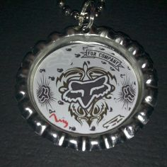 Fox Racing Inspired Bottle Cap Necklace #10 $4.00