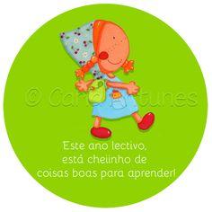Ilustração de Carla Antunes First Day Of School, School Days, Tweety, Halloween, Fictional Characters, Beginning Of The School Year, Seasons Of The Year, Cute Ideas, Encouragement