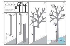 Arbre papier WC : Support papier toilette design - Presse Citron