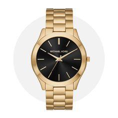 Michael Kors Slim Runway Gold Mk8621 Michael Kors Watch, Gold Watch, Runway, Slim, Watches, Bracelets, Accessories, Cat Walk, Walkway