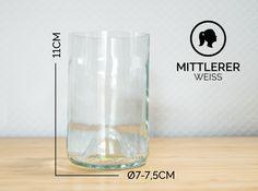 Gläser - MITTLERER / Ø 7-7,5CM / WEISS (Glas / Becher) - ein Designerstück von Glaeserne_Transparenz bei DaWanda