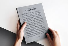 FOLDZ — visualexploration:    Star Maker, design by Daniel...