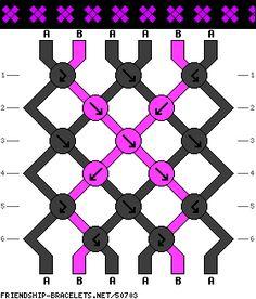 friendship-bracelets.net -- simple cross pattern