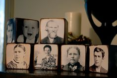 family blocks -do this with vintage photoshopped pics of my boys playing sports.  For the ledge in the mancave