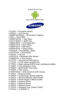 Here's list of best and must have Samsung Mobile Secrete Codes that you can use on your phone.Cell Phone Tips And Tricks For Novicesentered through the phonebook dialer. These codes are brandWatch margareth siagian video online on the best site here Android Phone Hacks, Cell Phone Hacks, Smartphone Hacks, Iphone Hacks, Life Hacks Computer, Computer Basics, Computer Science, Android Secret Codes, Android Codes