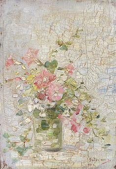 NICOLAE GRIGORESCU ( 1838-1907 ) Flori de vară în pahar / Summer flowers in glass Painting Inspiration, Romania, Still Life, Vintage World Maps, Artsy, Passion, Education, Fruit, Impressionism