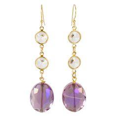 Crystal Pola Earrings in Violet