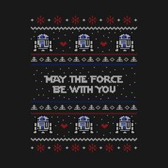 May the force be with you by bad_nobe Double Knitting Patterns, Knitting Charts, Cross Stitch Designs, Cross Stitch Patterns, Cross Stitching, Cross Stitch Embroidery, Star Wars Christmas Tree, Star Wars Quilt, Black Canvas Paintings