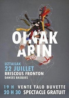 Spectacle de danses d' OINAK ARIN à BRISCOUS