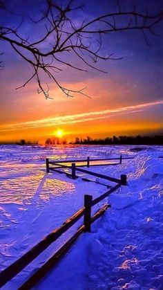 Beautiful Sunset, Beautiful World, Beautiful Places, Winter Pictures, Nature Pictures, Landscape Photography, Nature Photography, Winter Scenery, Snow Scenes