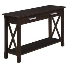 Black Finish Console Sofa Table With Drawer | Overstock.com | Movie Room |  Pinterest | Sofa Tables, Consoles And Drawers
