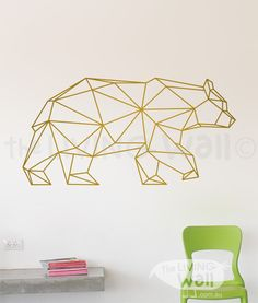Geometric Bear Wall Decal Geometric Bear Decals Bear by LivingWall