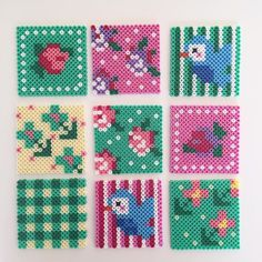 Spring coasters hama beads by pemmie_bus                                                                                                                                                      More