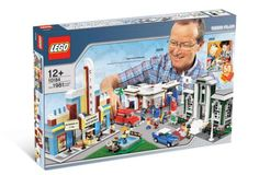 Build a whole community with the Lego Town Plan 10184. Designed to commemorate the 50th-anniversary of the original Lego brick patent this set featuring a 1950's style gas station town hall movie t...