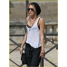 Miley Cyrus: Paris Has Me LOL-ing | miley cyrus lol paris 15 - Photo... ❤ liked on Polyvore featuring miley