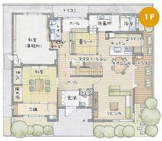 岩出展示場|和歌山県|住宅展示場案内(モデルハウス)|積水ハウス Rustic Wall Decor, Japanese House, Wooden Flooring, House Floor Plans, Layout, House Design, How To Plan, Interior Design, Room