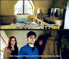 """Sass from Harry and a """"bitch please"""" face from Hermione"""