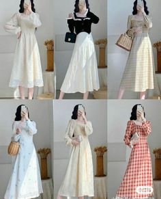 Fashion Drawing Dresses, Korean Fashion Dress, Ulzzang Fashion, Kpop Fashion Outfits, Girly Outfits, Simple Outfits, Classy Outfits, Cute Fashion, Pretty Outfits