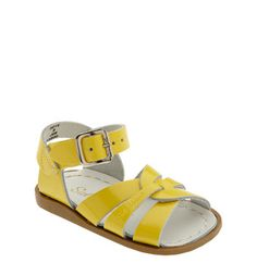classic baby sandals. as always, love the yellow. $29.95 #baby #sandals #yellow