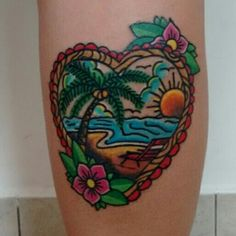 Tropical tattoo old school by Pao