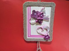 Paper Quilling Wall Art Picture Ping Flower for wall by ivonabg