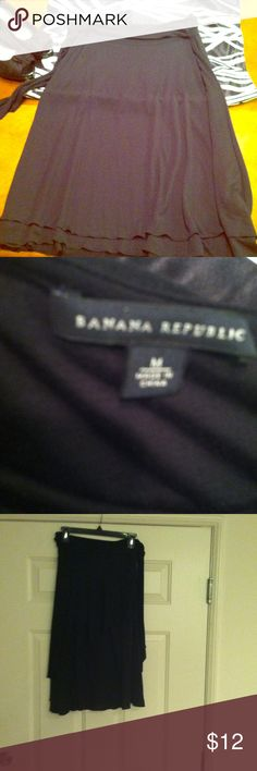 Banana Republic Black Wrap Skit *Like New* ***SALE*** Banana Republic Wrap Skirt. **To Cute**Fun wrap skirt to dress up or it can been worn casually. Bundle Discount **Make an Offer Banana Republic Skirts