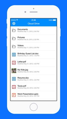 Amazon Cloud Drive backups your photos, videos, files, and documents and you can access them from any mobile devices that have this app installed. If you were using a computer, you need to get a Cloud Drive desktop app.