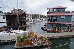 Schwimmende Häuser in Victoria, BC