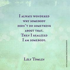 Lily Tomlinson: Somebody