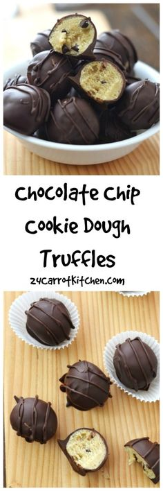 These awesome Chocolate Chip Cookie Dough Truffles are grain, gluten and dairy free!  grain free,gluten free,dairy free, paleo recipes, clean eats, desserts 