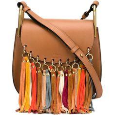 Chloe Small Hudson Tassel Bag ($2,390) ❤ liked on Polyvore featuring bags, handbags, shoulder bags, purses, accessories, crossbody, kirna zabete, chloe crossbody, leather handbags and crossbody purse