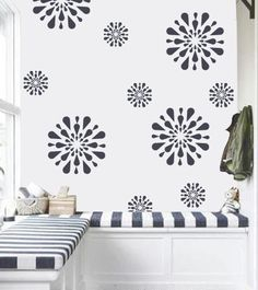 Flower pattern stencil , Reusable wall stencil, DIY home decor, FS-12