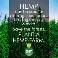 Save the forests. Plant a #hemp farm!