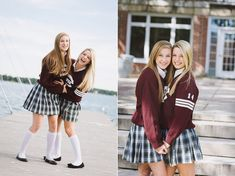 School Uniform Outfits, School Uniforms, Girls Uniforms, Teen Skirts, Cute Skirts, School Girl Dress, School Life, Knee Socks, Girl Poses