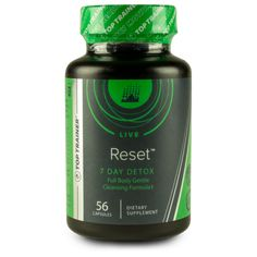 Top Trainer® Reset™ is a full body detox supplement intended to flush harmful toxins from your system.‡