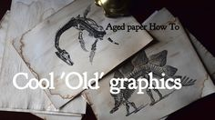 Retro graphics on aged paper could be very good decoration for room. Make the paper, print whatever You want, put it on the walls (in frames) and You will ge. Project Steps, Retro Pictures, How To Age Paper, Treasure Maps, Look Older, Diy Projects, Crafty, Make It Yourself, Cool Stuff