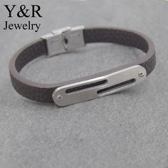 Mens Custom Braided Brown Genuine Leather Bracelet With Stainless Steel Clasp
