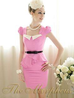 Morpheus Boutique  - Pink Cap Sleeve Layer Banded Celebirty Dress, $89.99 (http://www.morpheusboutique.com/products/pink-cap-sleeve-layer-banded-celebirty-dress.html)