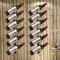 Chic High Quality Metal Wall Mounted Wine Rack Organizer