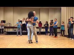 Felicien and Isabelle Kizomba Demo Toronto - YouTube