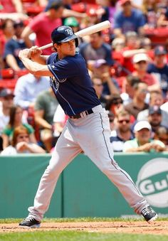 Wil Myers #9 of the Tampa Bay Rays stands for his first major league at bat against the Boston Red Sox during the game on June 18, 2013 at Fenway Park in Boston, Massachusetts. (Photo by Jared Wickerham/Getty Images)