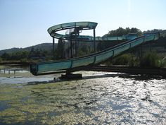 An abandoned water park on the island Villennes sur Seine.