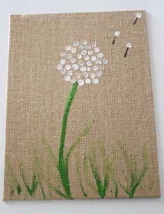 DIY Dandelion Fingerprint Art for Kids via Mom It Forward