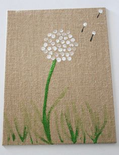 DIY Dandelion Fingerprint Art for Kids via Mom It Forward