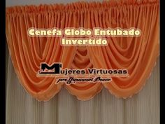 Como hacer una Cenefa Globo entubado Invertido parte 3 de 7 por Yuruanni Bravo - YouTube Double Rod Curtains, Window Curtains, Curtains 2018, Valance Patterns, Dory, Curtain Rods, Youtube, Lasagna, Windows